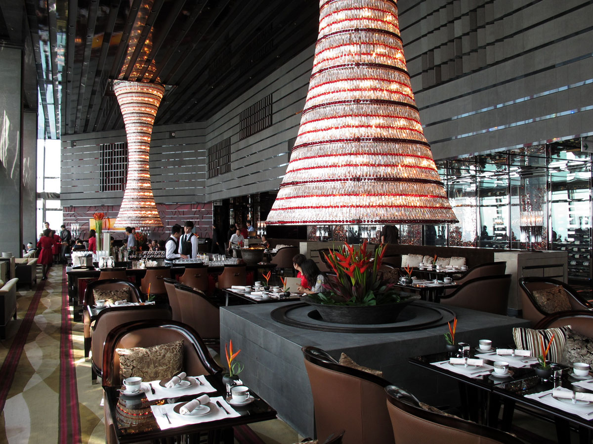 kitchen furniture for small blonde cabinets ritz-carlton hong kong – world's tallest hotel ...