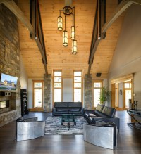 Rustic Contemporary Mountain Style Home With Innovative ...