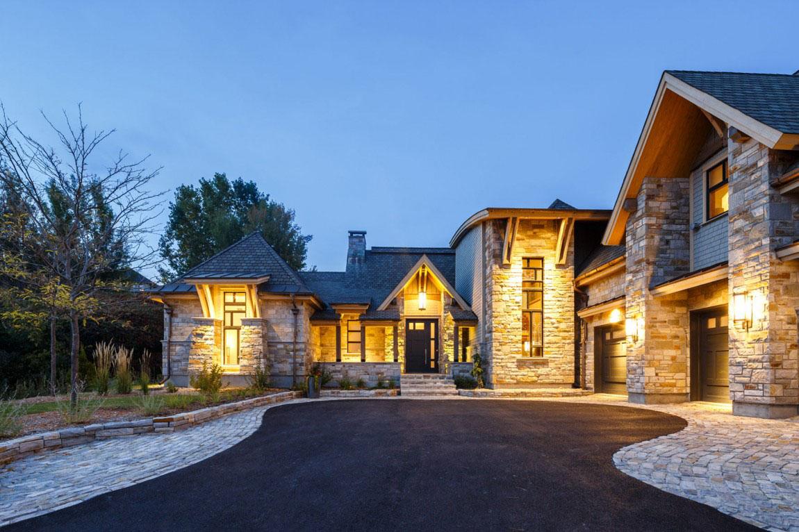 Rustic Contemporary Mountain Style Home With Innovative Design  iDesignArch  Interior Design