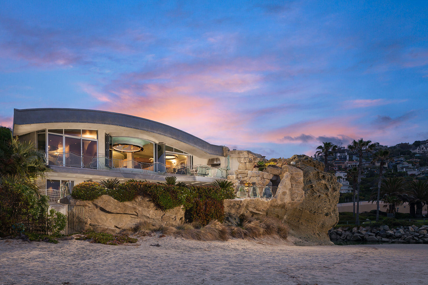 stainless steel restaurant kitchen cabinets 36 inch round table whimsical rock house in laguna beach | idesignarch ...