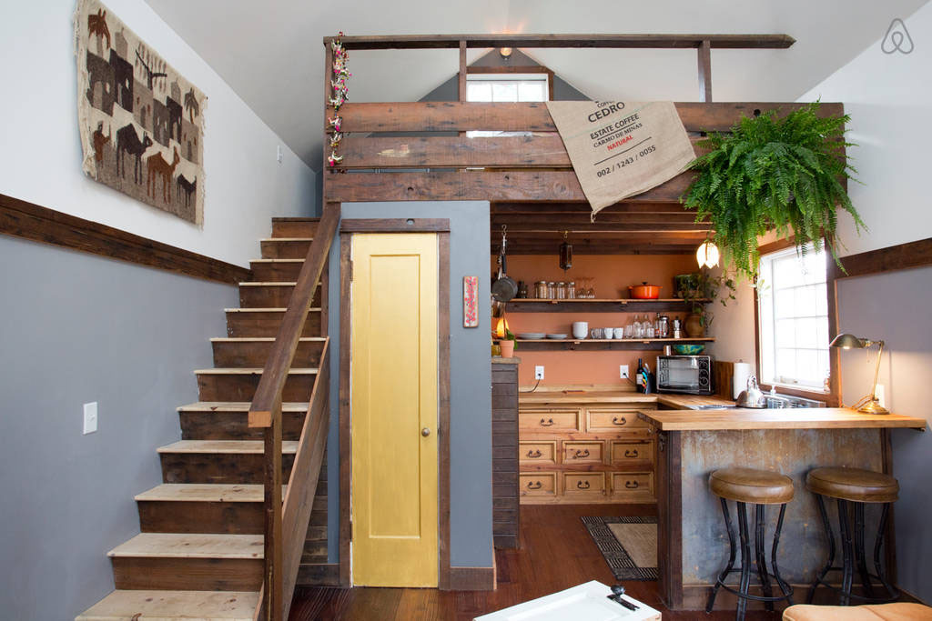 used kitchen on wheels for sale wood and stainless steel island cozy rustic tiny house with vintage decor | idesignarch ...