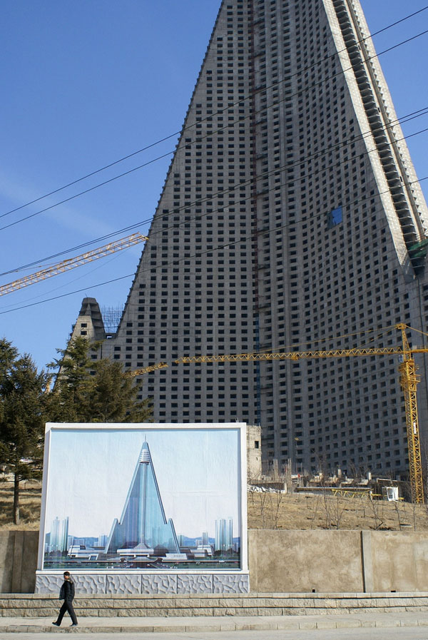 Ryugyong Hotel  Bizarre Symbol of North Korea  iDesignArch  Interior Design Architecture