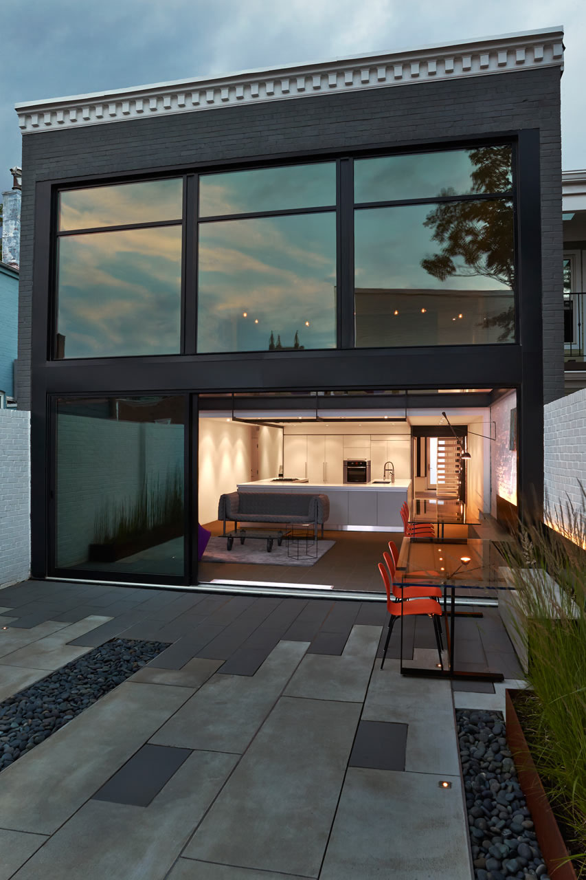 Contemporary Row House With Open Concept Living And Entertainment Spaces  iDesignArch