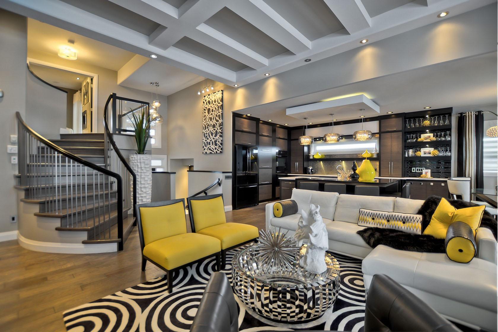 Contemporary Custom Dream Home In Saskatoon With Inspiring Interior Decor   iDesignArch ...