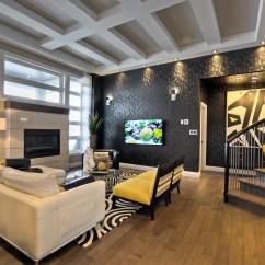 Modern Black Living Room Rustic Design Furniture Contemporary Custom Dream Home In Saskatoon With Inspiring ...