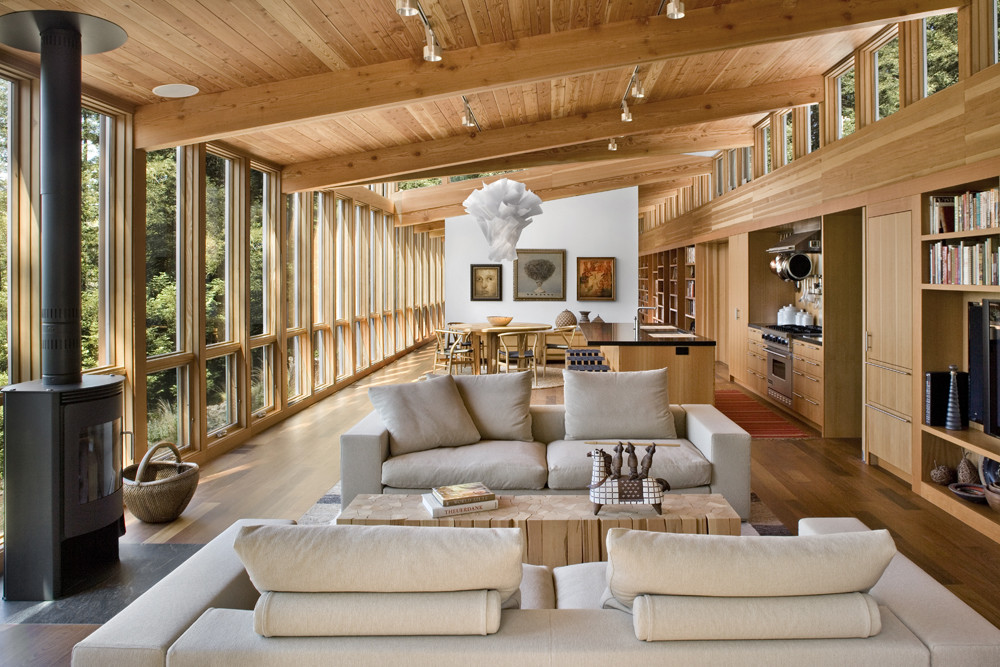 Modern Open Plan Wood House In The Middle Of A Forest ...