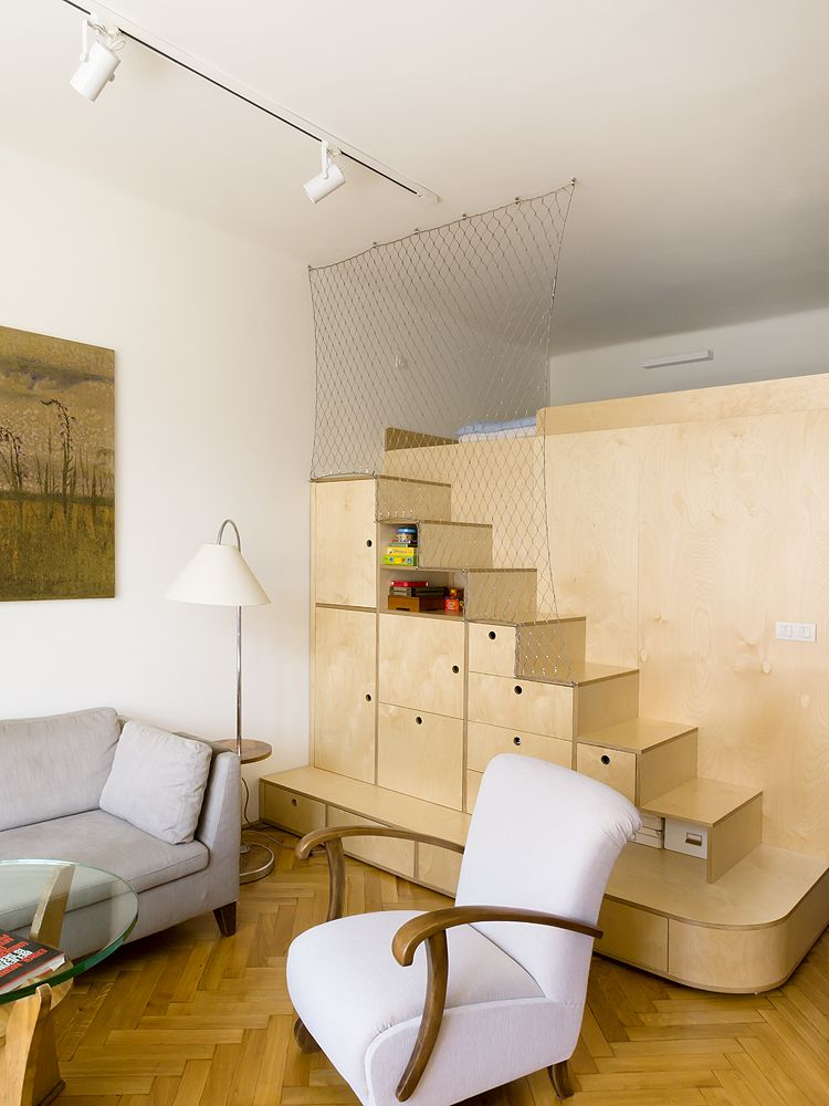 Renovated Apartment With Arch Doorways And Secret Sleeping