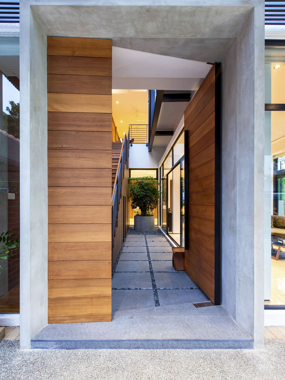A SemiDetached House In Singapore Connects To Its