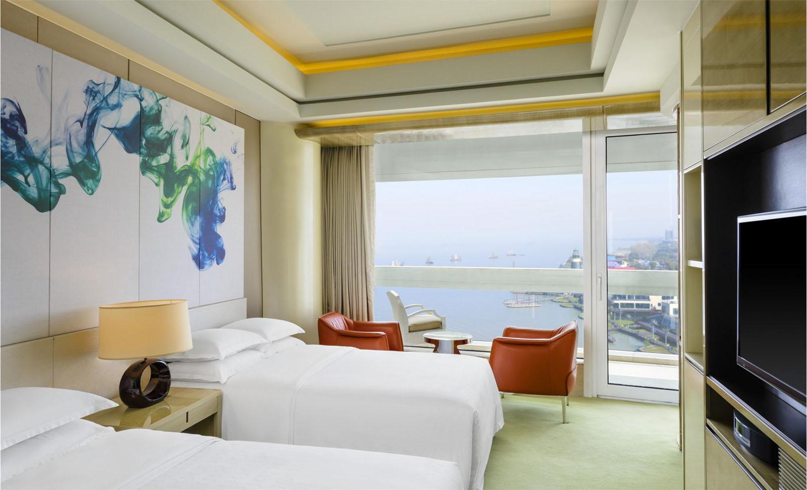 Horseshoe Shaped Glowing Donut Hotel  Sheraton Huzhou Hot Spring Resort  iDesignArch