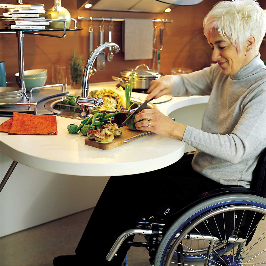 wheelchair kitchen camp chair with table ergonomic italian design suitable for