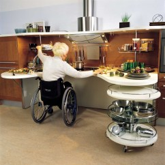 Handicap Accessible Kitchens Kitchen Cutting Table Ergonomic Italian Design Suitable For Wheelchair