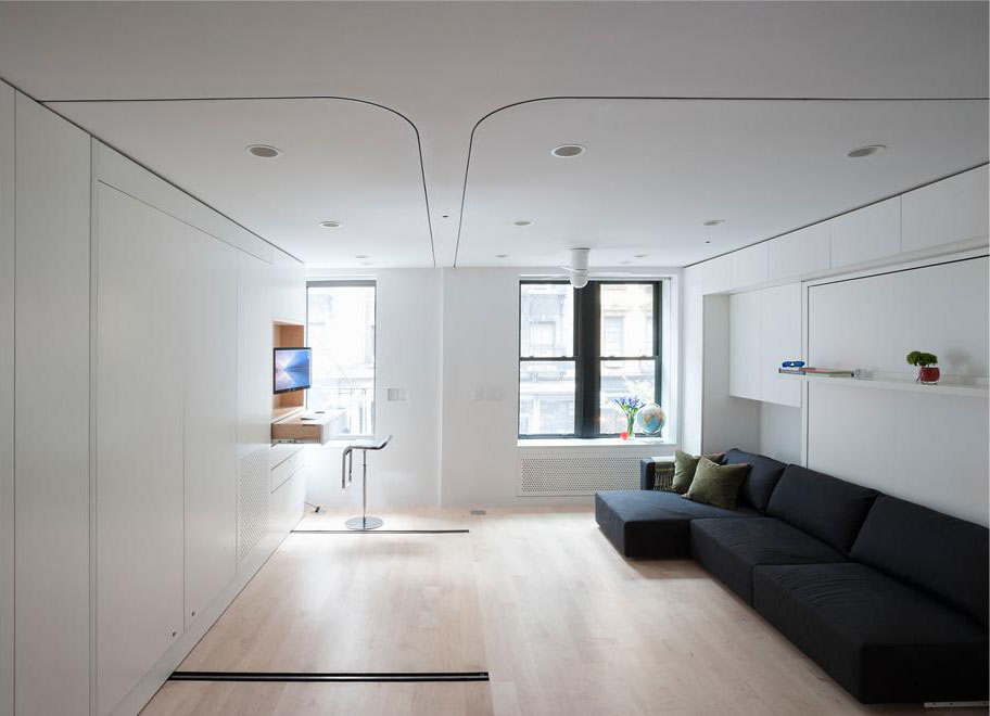 Compact Smart Studio Apartment In SoHo With Moving Wall  iDesignArch  Interior Design