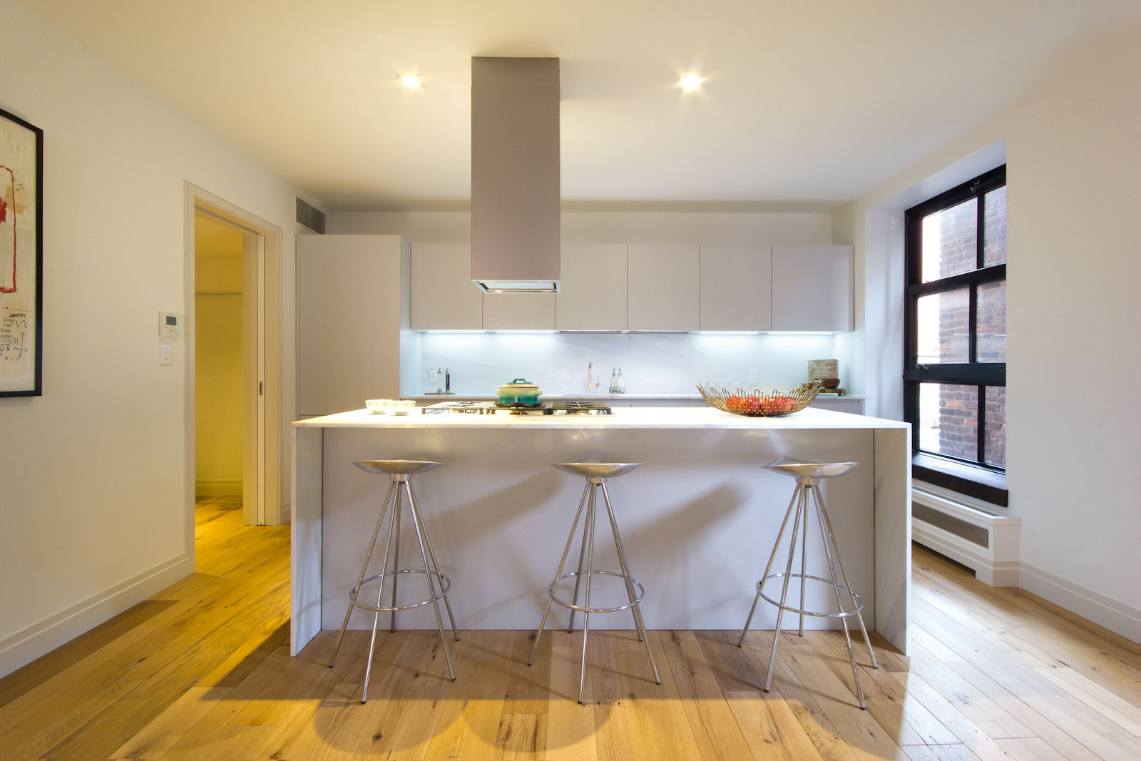 mid century kitchen cabinets farmhouse table sets inspirational nolita luxury loft in new york | idesignarch ...