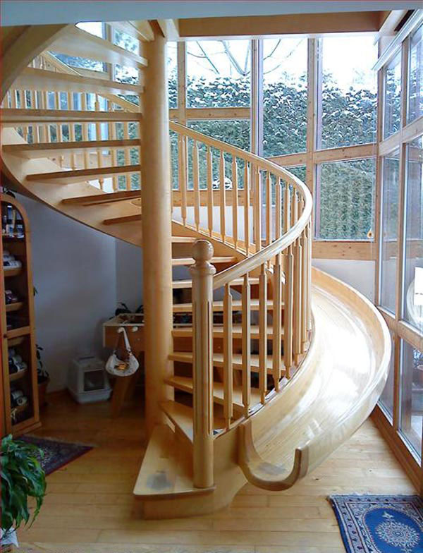 Spiral Staircase Slide  iDesignArch  Interior Design