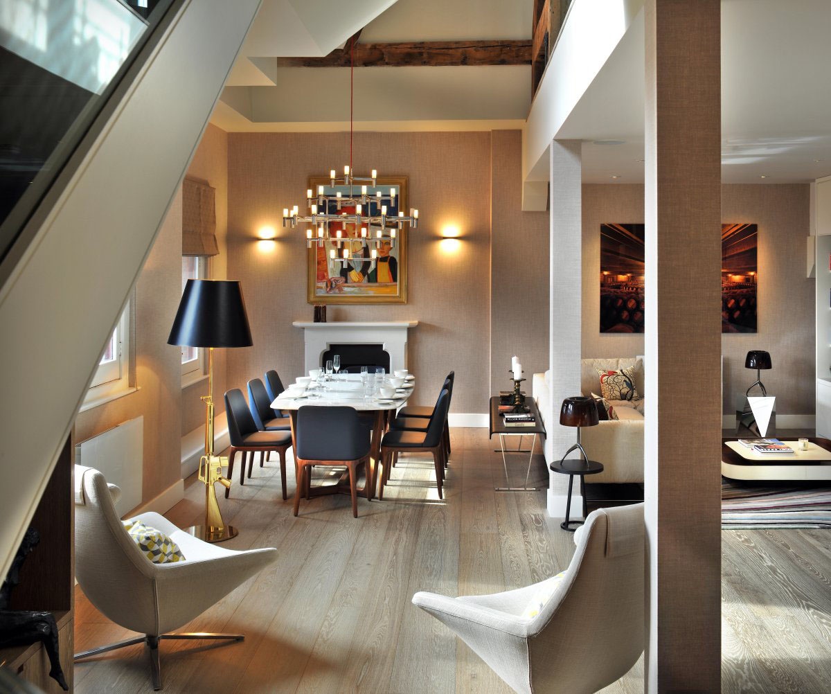 Contemporary London Penthouse Apartment In A Grade I Listed Building  iDesignArch  Interior