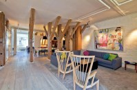 Unique Attic Penthouse Apartment With Charming Wood Beams ...