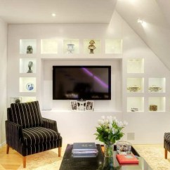 Modern Living Room Shelves Ceiling Fans For Tastefully Decorated Apartment With Open Floor Plan ...