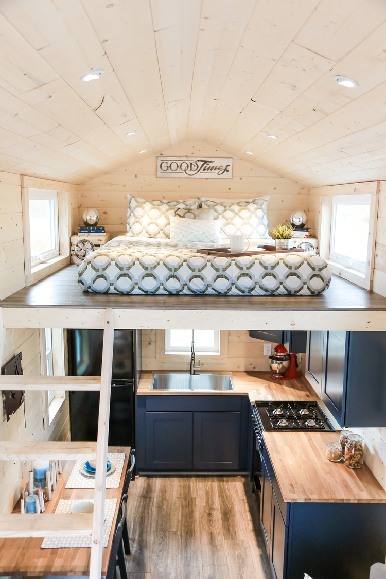 Tiny Dream Home On Wheels With Two Sleeping Lofts