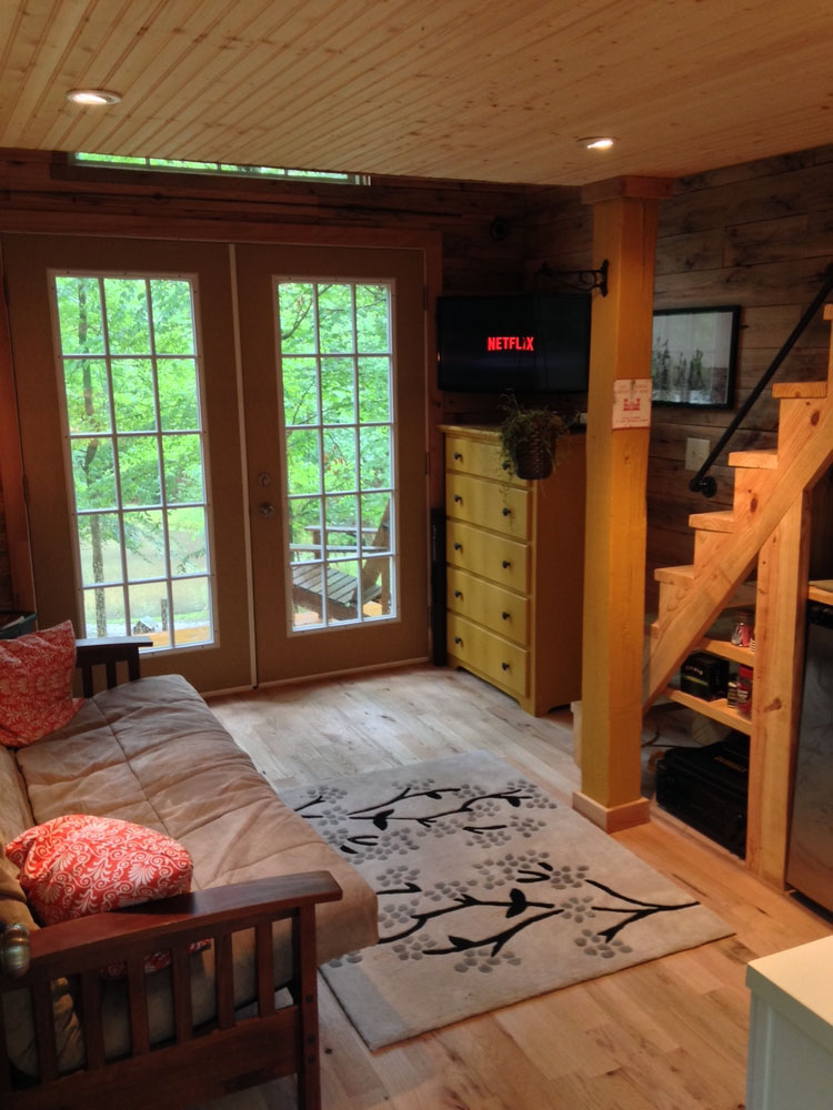 180 Square Foot Tiny House With The Open Feel Of A Full