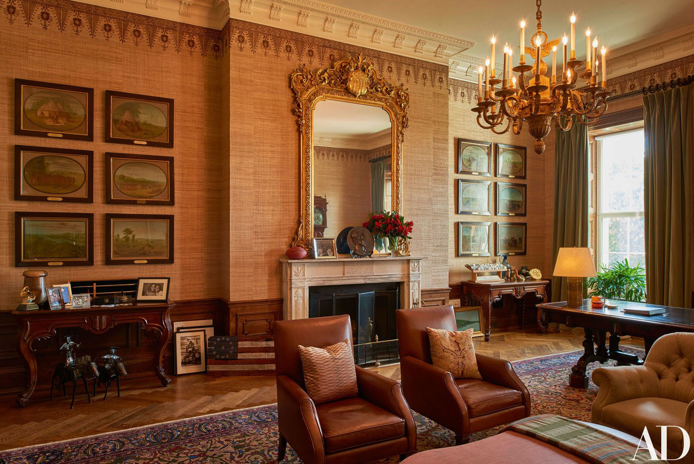 how to decorate my living room with black sofas area rug ideas inside the white house private residence of obama ...