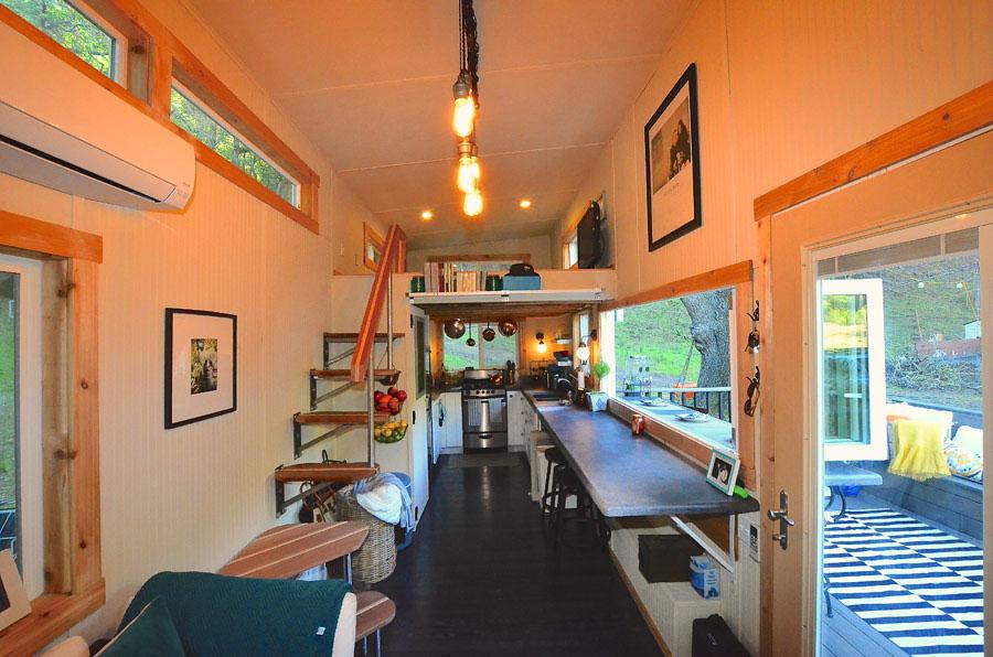 Tiny House On Wheels With IndoorOutdoor Entertaining