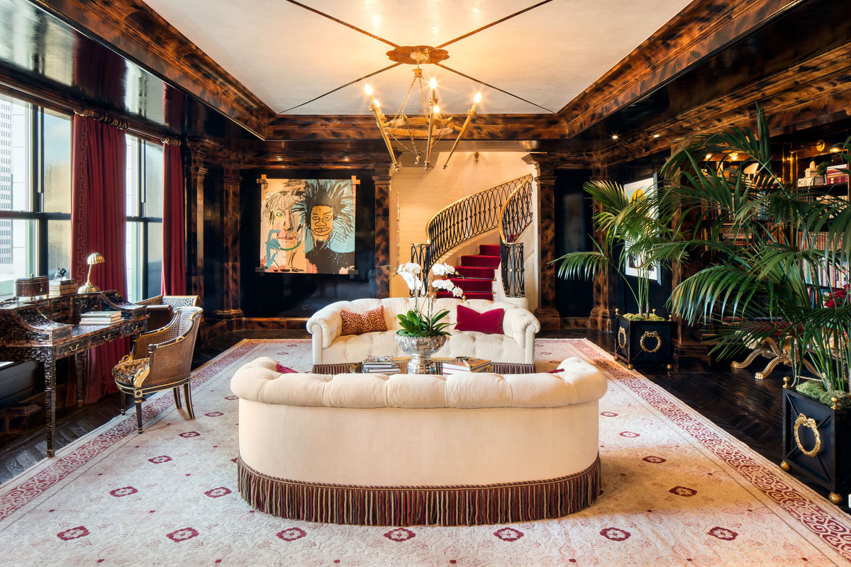big sofas in small rooms burgundy leather sofa decorating ideas iconic central park penthouse at the plaza with lavish ...