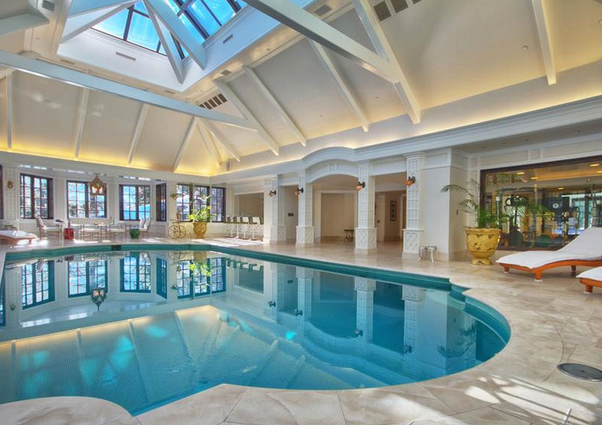 Elegant Private Indoor Glass Mosaic Swimming Pool With