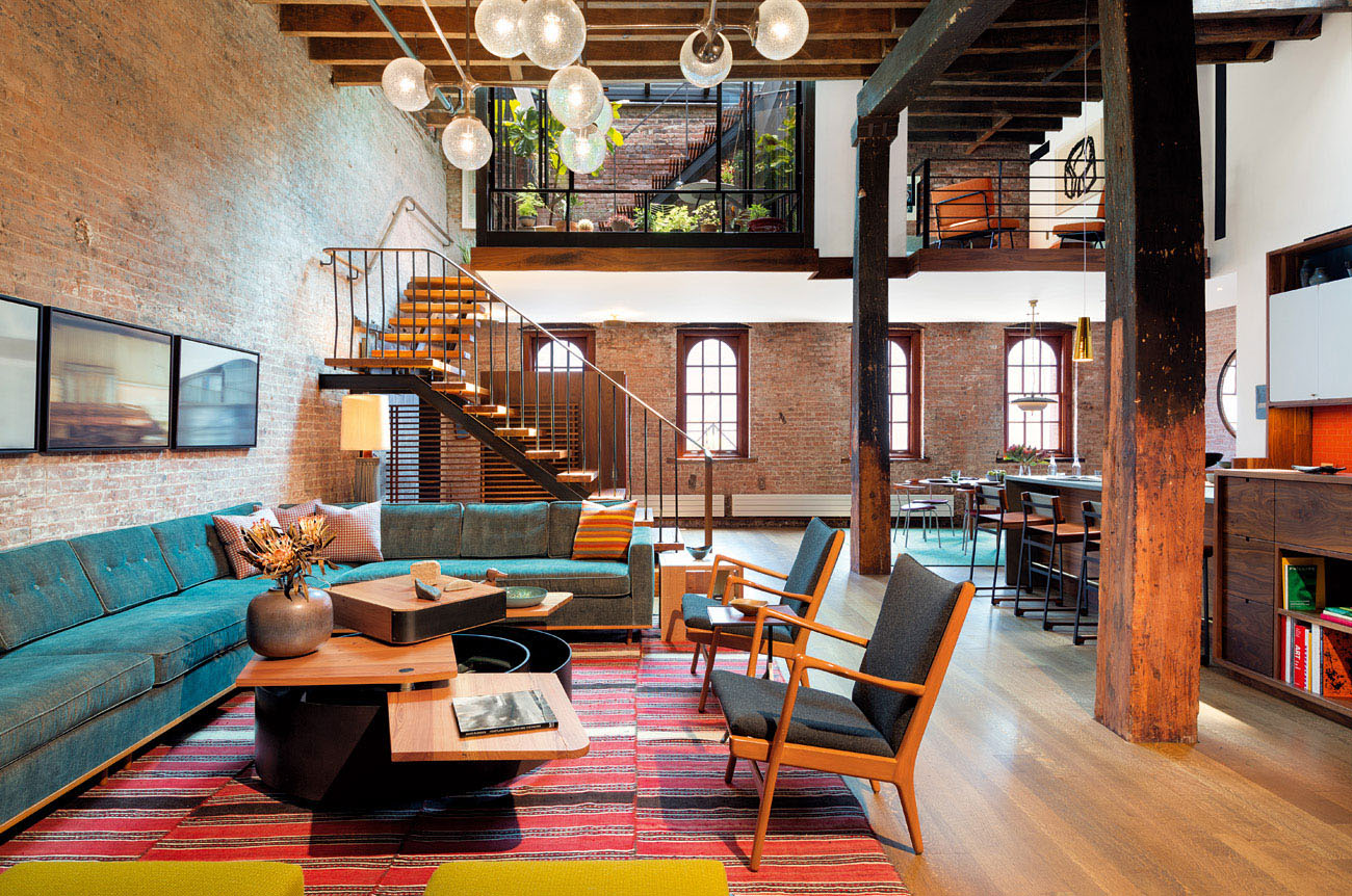 Industrial Loft In Tribeca With Retractable Glass Roof  iDesignArch  Interior Design