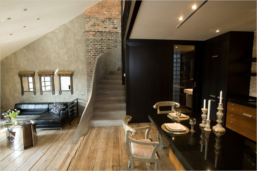 decorating small living room apartment bed for triplex in prague | idesignarch interior ...