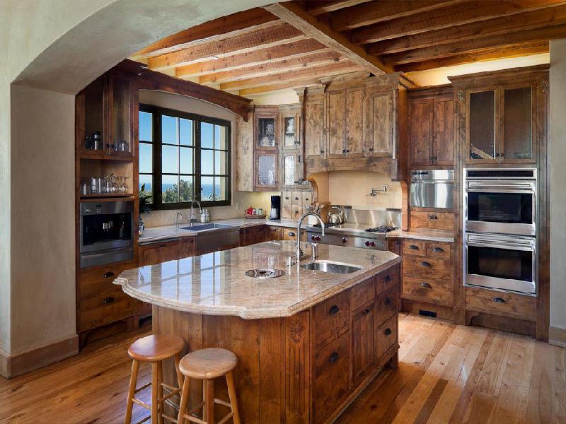 tuscan style kitchen discount faucets villa in montecito idesignarch interior design