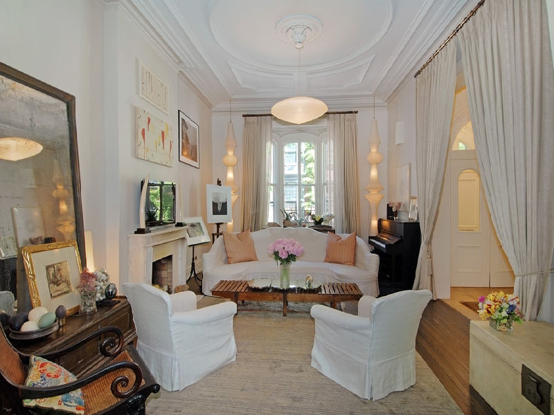 Uma Thurmans Greenwich Village Townhouse For Sale  iDesignArch  Interior Design Architecture