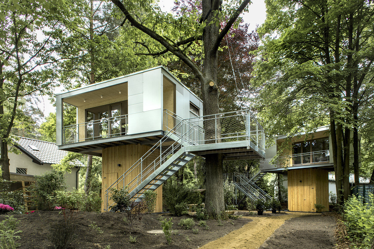 restaurant supply chairs tall director tiny treehouse urban oasis in berlin | idesignarch interior design, architecture & ...