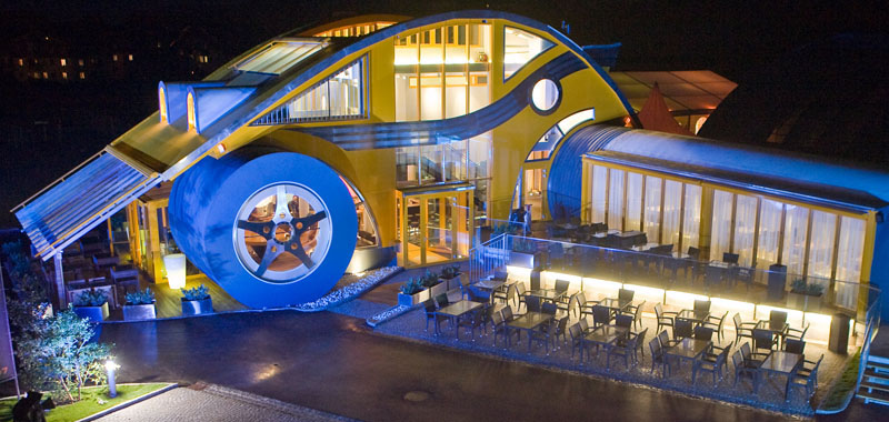 VW Beetle Restaurant And Bar In Austria  iDesignArch  Interior Design Architecture  Interior