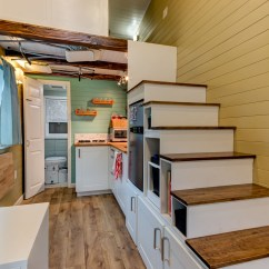 Kitchen Tables Art Van Orange Towels Custom Finished Tumbleweed Mobile Tiny House | Idesignarch ...