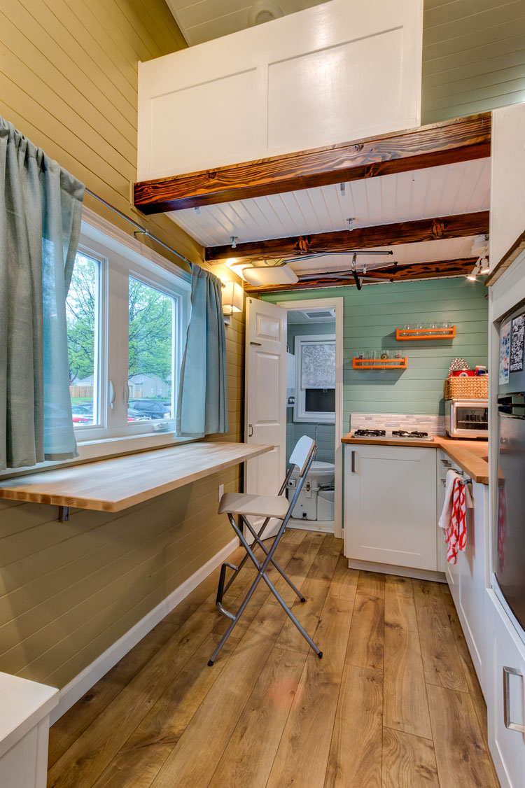 kitchen cabinets storage faucet repair parts custom finished tumbleweed mobile tiny house   idesignarch ...