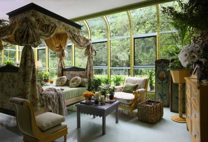 Elegant Winter Garden With Rich Interior Decor IDesignArch Interior Design Architecture