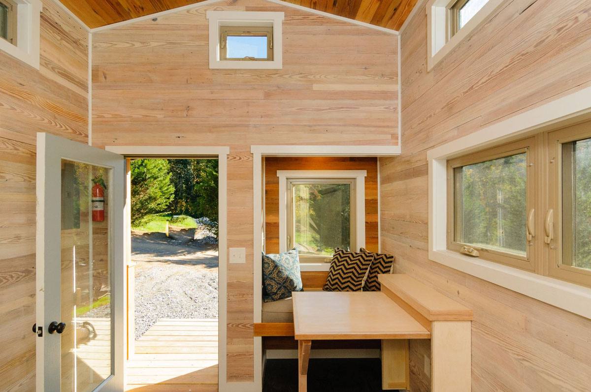 Craftsman Style Tiny Home Featuring Cedar Siding And