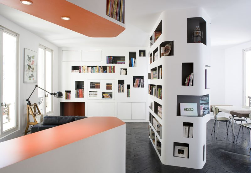 Paris Apartment Makes Good Use Of Tight Space  iDesignArch  Interior Design Architecture