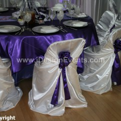 Rental Chair Covers And Sashes Fishing Bass Pro White Satin Universal Pillow Case Self Tie