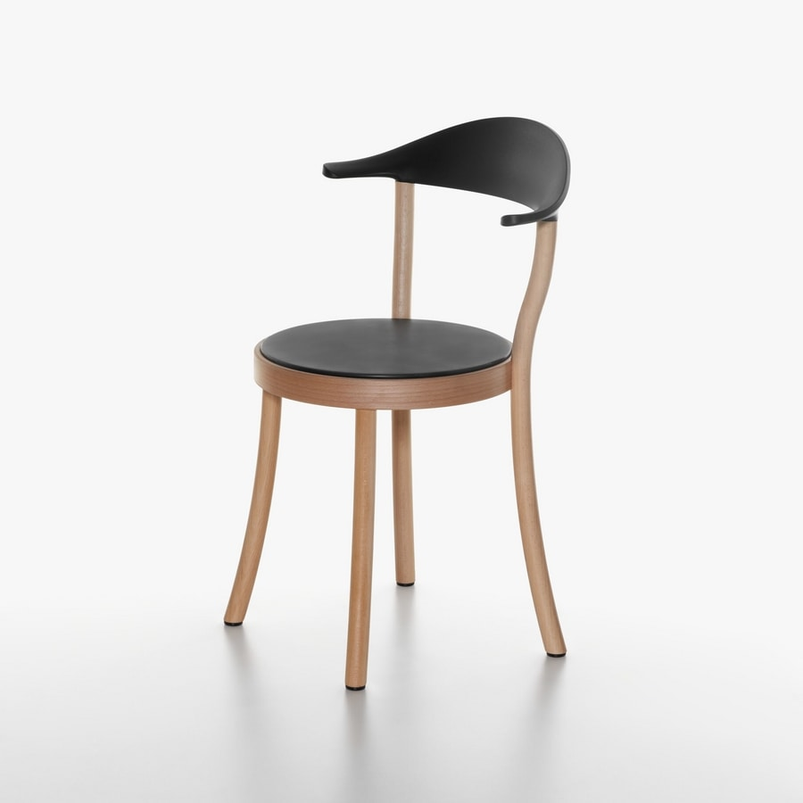 round wooden chair high straps big w with seat in beech and plastic idfdesign 1212 20