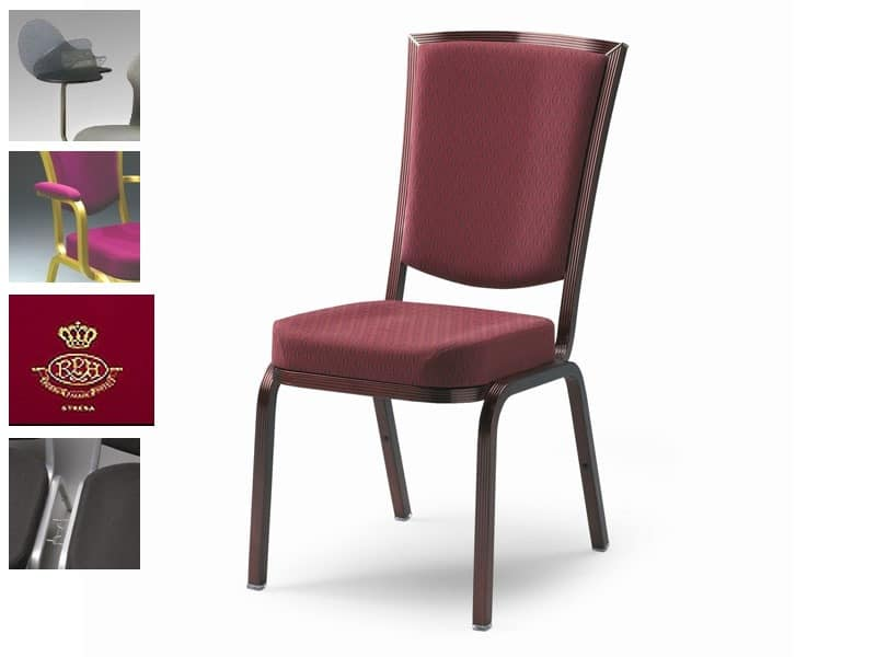 Fireproof chair for conferences and meetings customizable  IDFdesign
