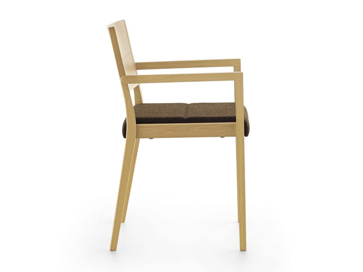 upholstered stacking chairs wheelchair scientist stackable wooden armchair padded seat idfdesign