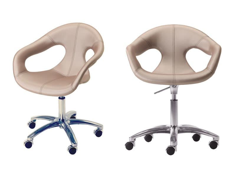 chair for office use kids upholstered rocking padded metal base on castors home idfdesign sunny fabric ho