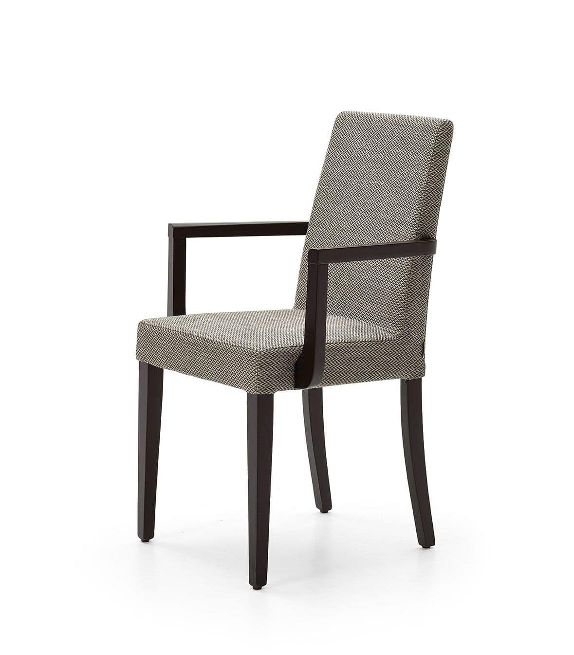 Wing back armchair occasional accent chair velvet or fabric lounge cocktail chair with stud detail arm rests luxurious padded armchairs for sumptuous living (smoky rose velvet) 4.2 out of 5 stars 76 £169.99 £ 169. Upholstered chair with armrests, for dining room   IDFdesign