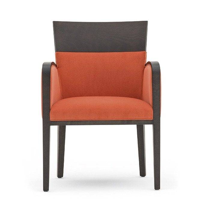 Small armchair for hotel and restaurant