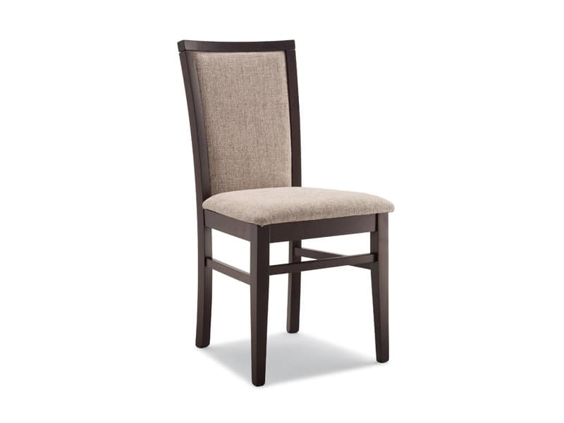 Wooden padded chair for residential and contract use