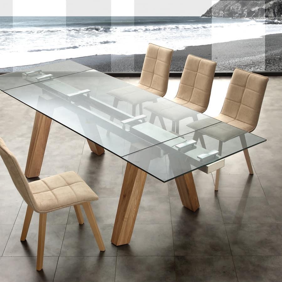 Salotti, poltrone, sedie e tavoli. Extending Table For Office Or Dining Room Idfdesign