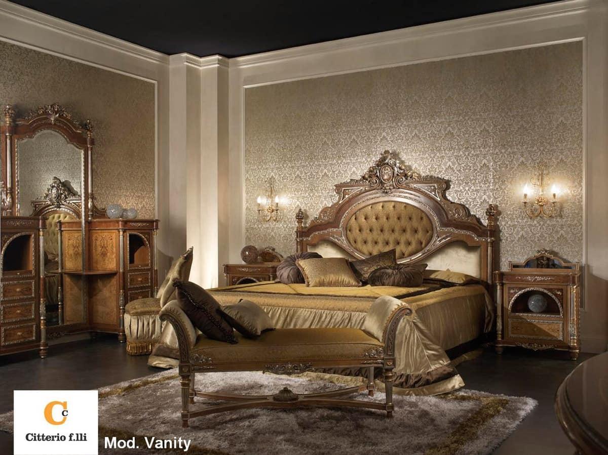 Classic luxury bedroom solid wood double bed  IDFdesign