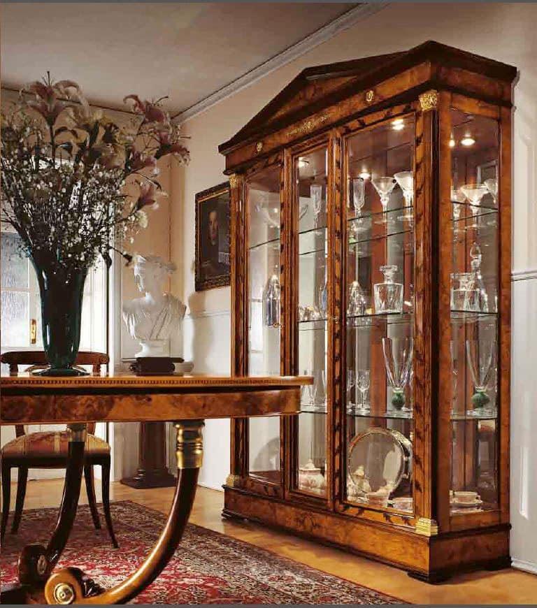 Classic display cabinet dining room 3door display