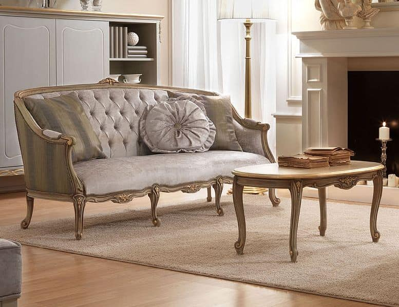 sofa classic decorating ideas with brown leather sofas three seats in hand carved wood for sitting belle epoque 486